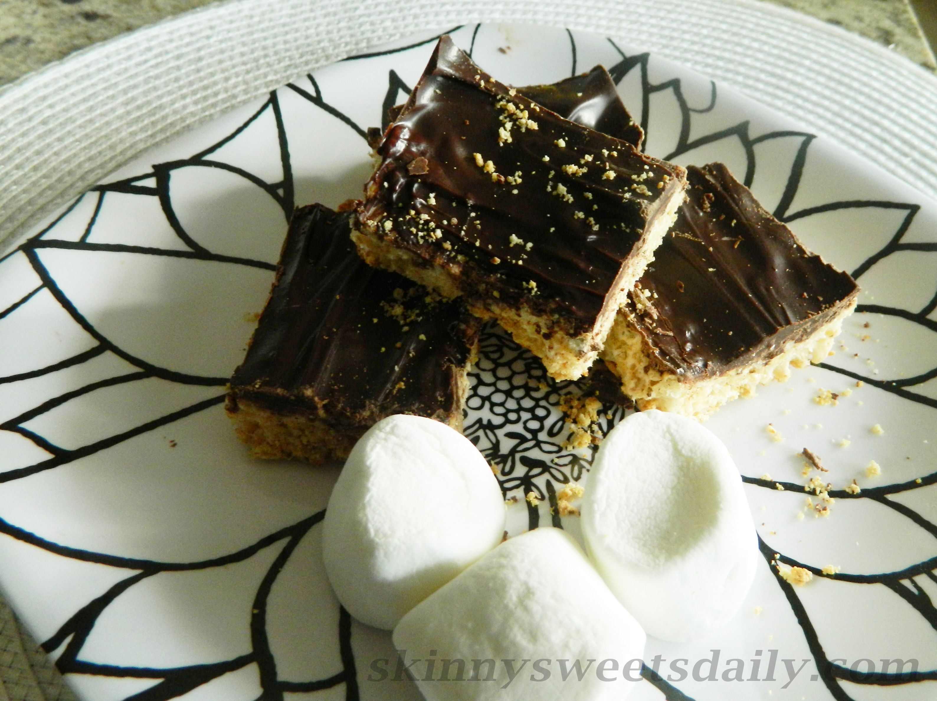 Chocolate Covered Rice Krispies Treats, Low Carb and Low Sugar ...