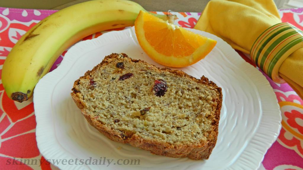 Orange Scented Fruity Banana Bread - Skinny Sweets Daily