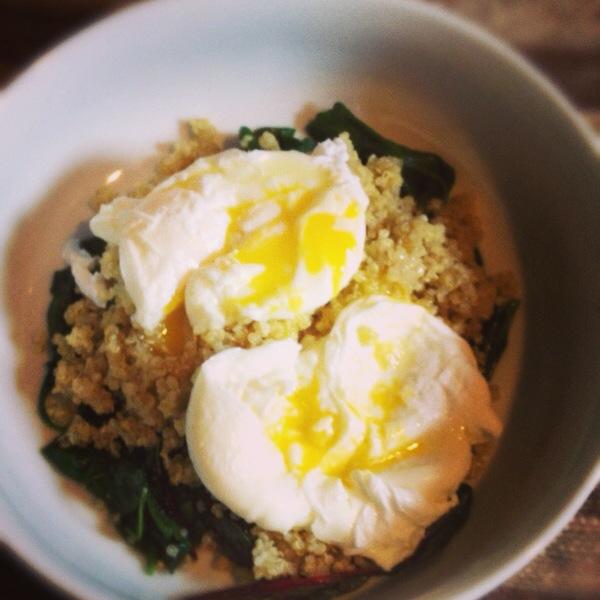 Truffle Eggs, Greens & Quinoa Recipe » Skinny Sweets Daily