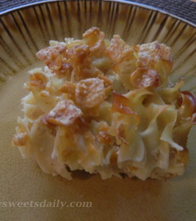 Delish Low Fat Noodle Pudding (Kugel)