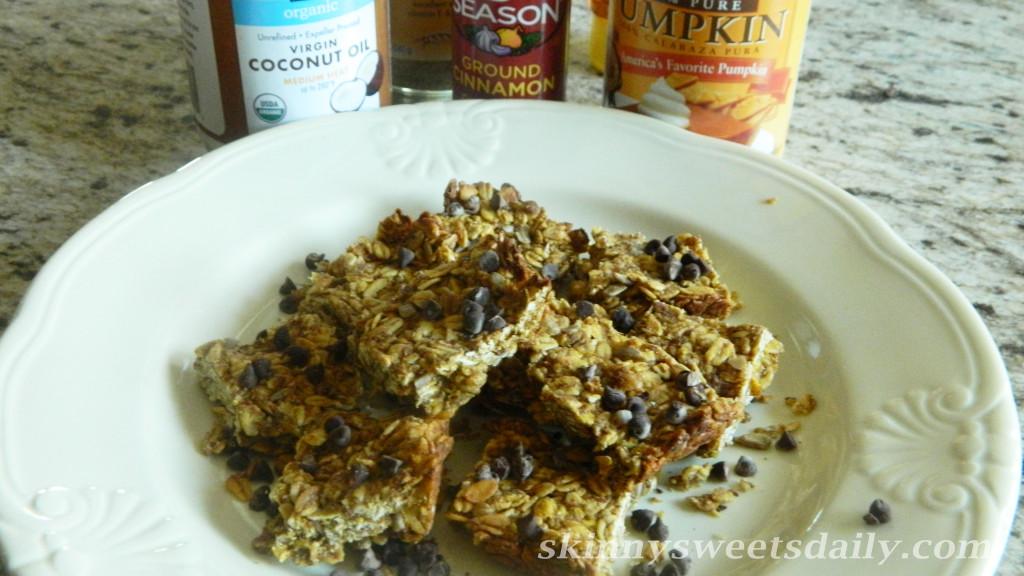 Healthy Vegan Pumpkin Granola Bars 2