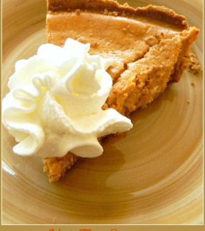 Not Too Sweet, Guilt Free Sweet Potato Pie