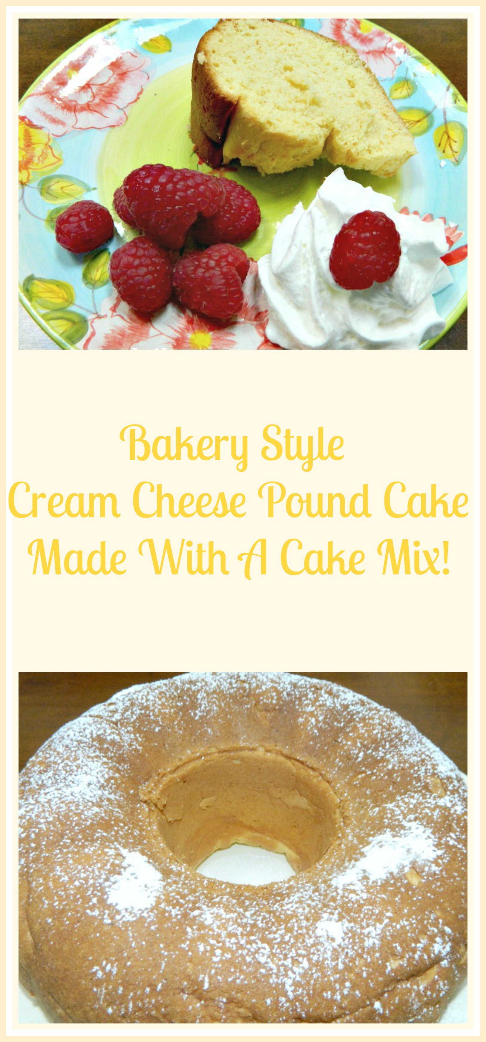 pound cake mix bakery style cheese pound cake made with a cake mix 6733