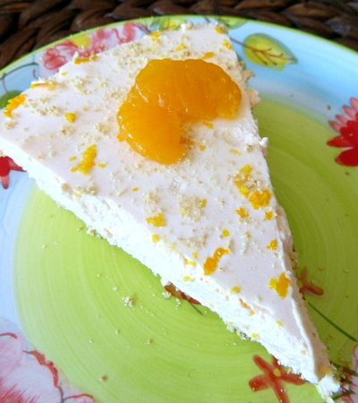 No Bake Creamy Dreamy Orange Cheesecake