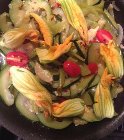 Zucchini Flower Sauté
