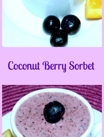 Simply Refreshing Coconut Berry Sorbet