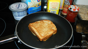 Skinny Version Cream Cheese And Jam French Toast For One 2