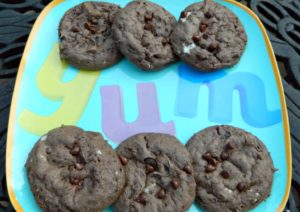 Large Soft and Chewy Triple Chocolate Cookies