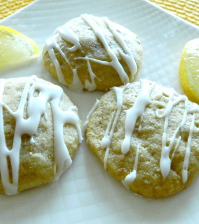 Soft Lemon Glazed Cookies