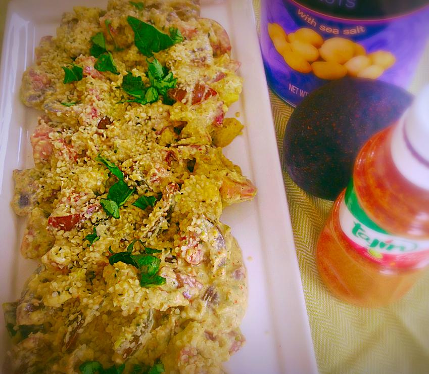 kumato salad with burrata and macadamia nuts pic1