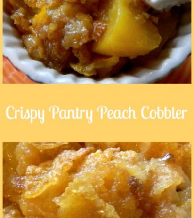 Easy Crispy Pantry Peach Cobbler