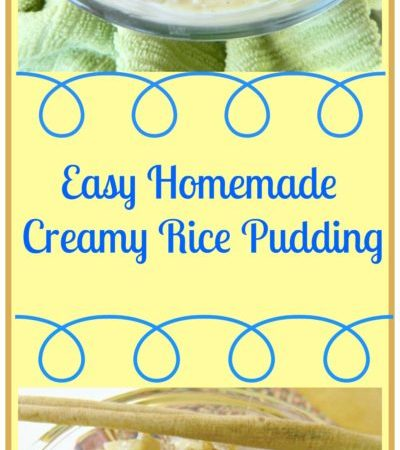 Easy Homemade Creamy Rice Pudding