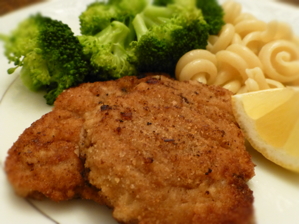 caper cream sauce and a pan seared trout schnitzel with mustard caper ...