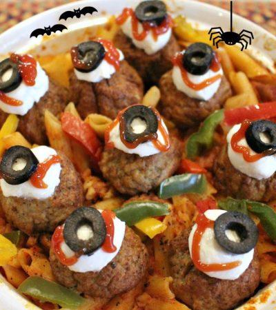 Spooky Eyeballs Casserole