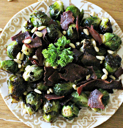 Healthy Brussels Sprouts with Turkey Bacon