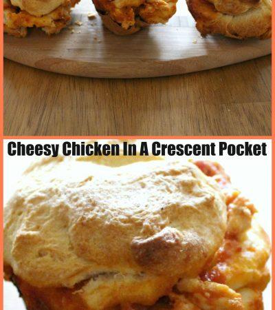 Cheesy Chicken In A Crescent Pocket