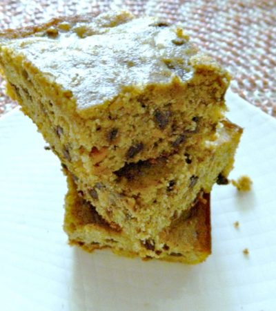 Chocolate Chip Sweet Potato Blondies