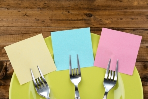 Forks with Post Its