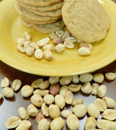 Large Gluten Free No Flour Peanut Butter Cookies