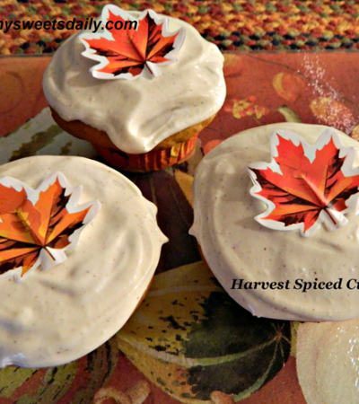 Harvest Cupcakes With Fluffy Cinnamon Frosting