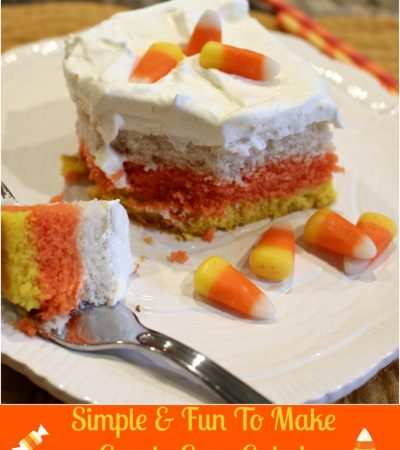 Easy & Fun To Make Candy Corn Cake!