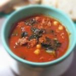 Kale, Chorizo and Chick Pea Tomato Soup
