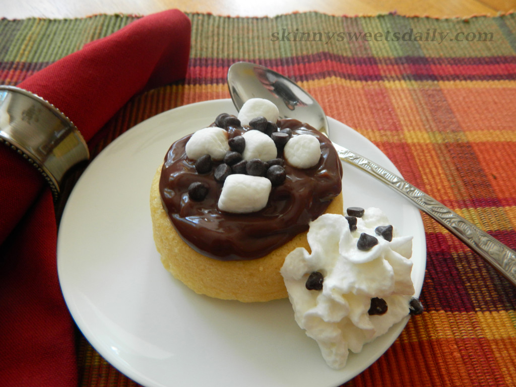 Fast and Easy Low Fat Chocolate Pudding Cake Dessert