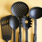 Black Cooking Spoons
