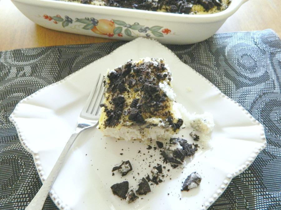 Oreo Cookies and Cream Poke Cake - Pams Daily Dish