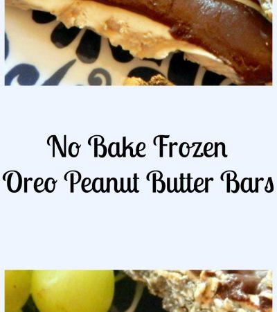 No Bake Frozen Oreo Peanut Butter Bars