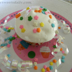 Celebration Cupcakes With Fluffy White Frosting!