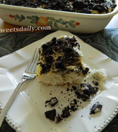 Outrageous Oreo Cookies And Cream Poke Cake