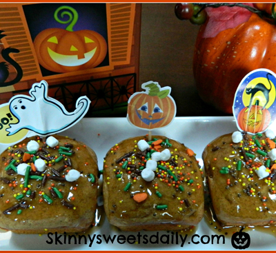 Little Caramel Pumpkin Square Cakes