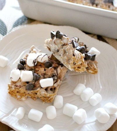 No Bake Golden Graham S'mores Bars