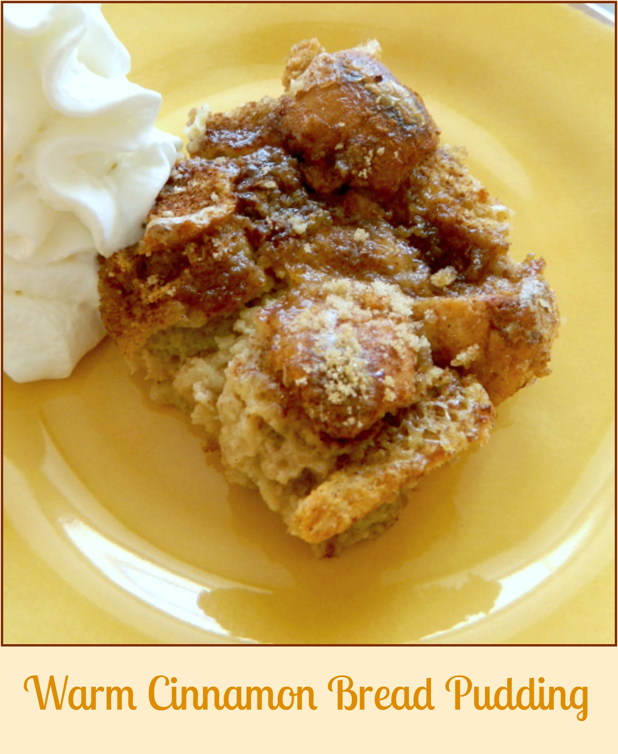 Warm Cinnamon Bread Pudding - Skinny Sweets Daily
