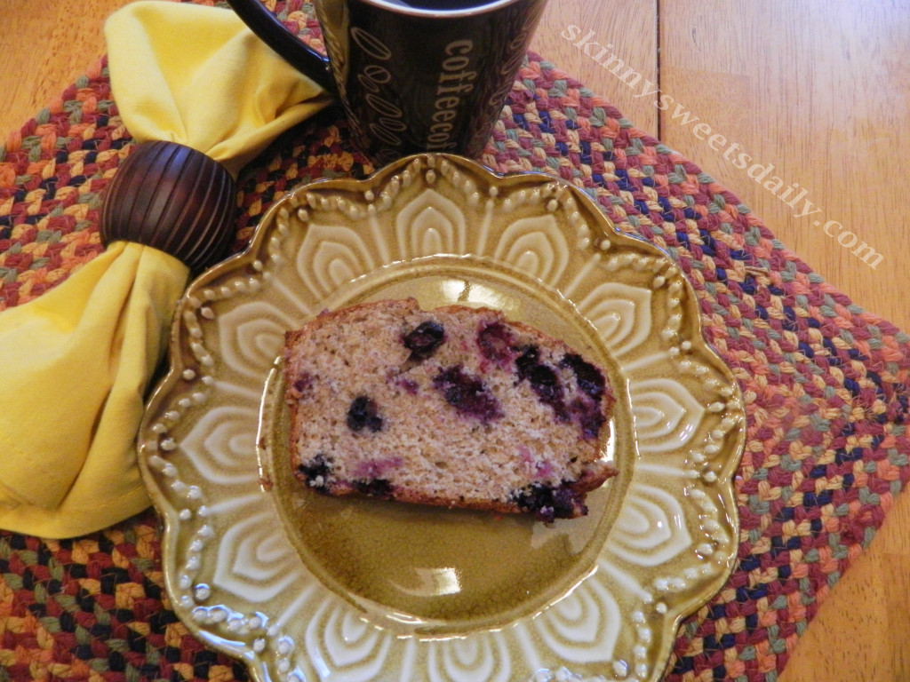 Healthy Blueberry Banana Bread with Oatmeal and Flax