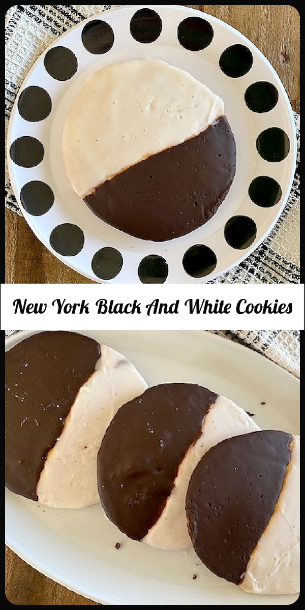 These famous cookies called New York black and white cookies are a most delicious experience everyone should try. Don't miss out of enjoying homemade black and white cookies right in your own home with this classic black and white cookie recipe. You can easily bake a batch of these delectable treats any time you want without having to run out and buy some. This New York black and white cookies recipe is really close to an original black and white cookies recipe New York style. via @skinnydesserts