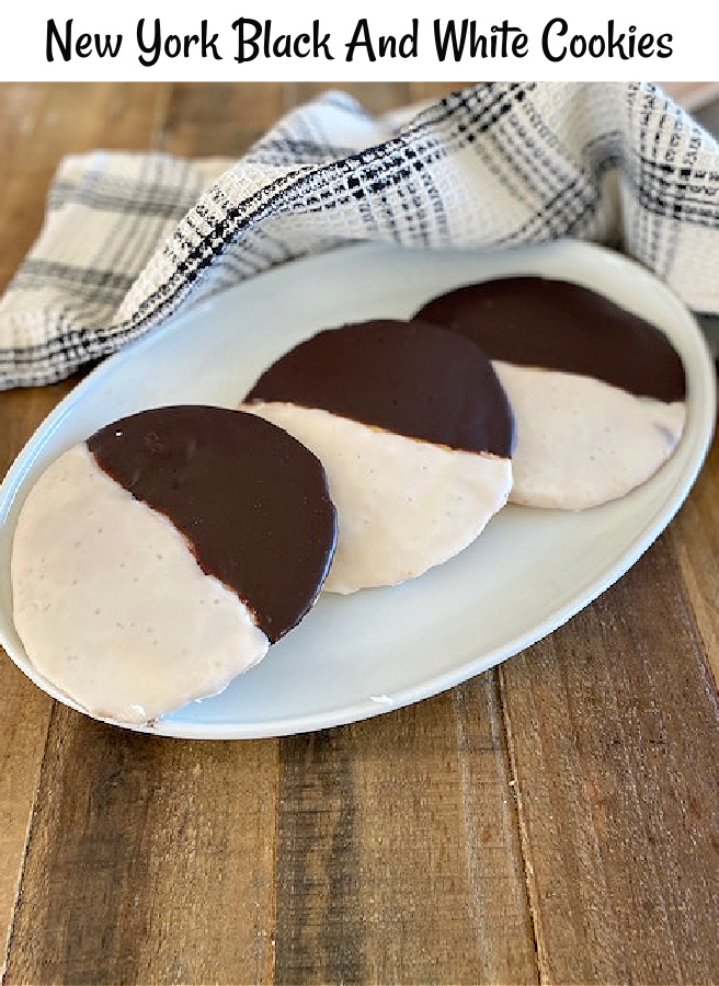 New York black and white cookies recipe