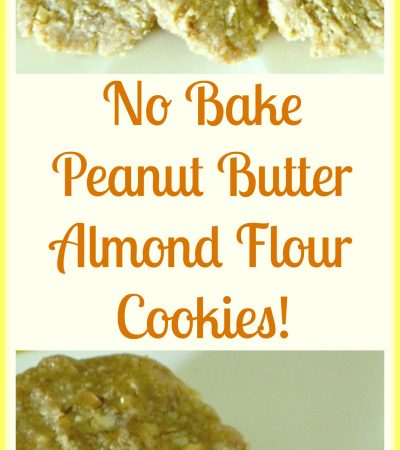 No Bake Peanut Butter Almond Flour Cookies