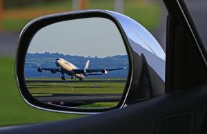 Airplane in Side window