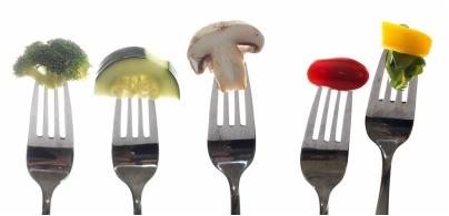 Bites of Food On Forks