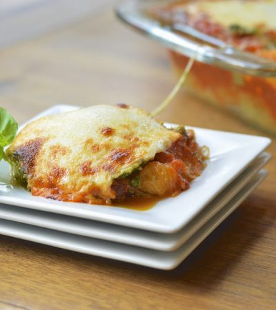 Spaghetti Squash Lasagna with Basil Walnut Pesto