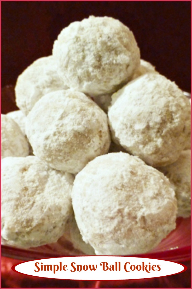 Simple Snow Ball Cookies via @skinnydesserts