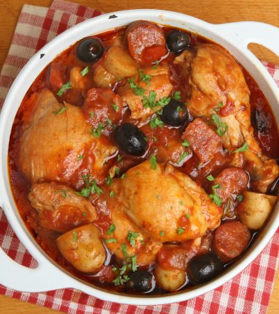 Chicken Casserole with Pineapple and Garlic