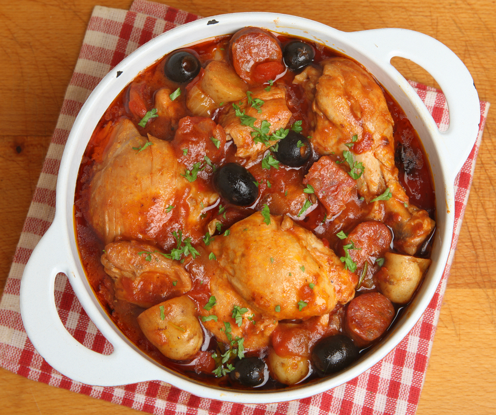 Chicken-casserole-with-pineapple-and-garlic