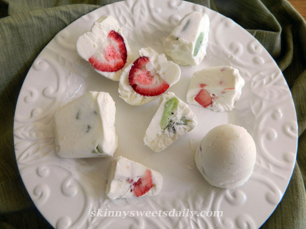 Skinny Frozen Fruit and Yogurt Bites