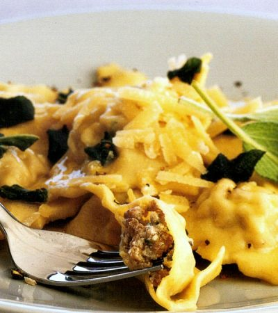 Stuffed Pasta with Ricotta Ground Pork and Turkey