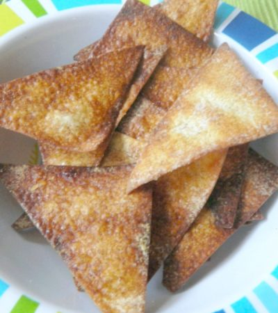 Baked Cinnamon Wonton Wrappers