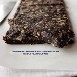 Blueberry Muffin Fruit and Nut Bars