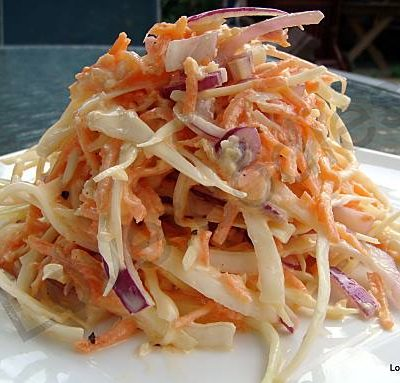 No Fat BUT Creamy Coleslaw